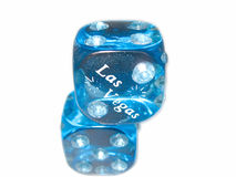 Las Vegas Diamond Dice on top of each other. Las Vegas Diamond Magnetic Dice on top of each other Royalty Free Stock Photos