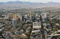 Las Vegas downtown. Aerial view of Las Vegas. United States of America Stock Photos