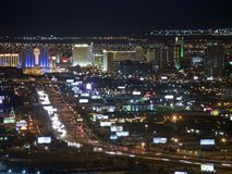 Las Vegas Downtown Night Royalty Free Stock Photos