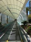 Las Vegas, een rollend trottoir, straat van de stad stock foto