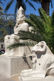 Las Vegas - Egyptian statue in front of Luxor Hote Royalty Free Stock Photography