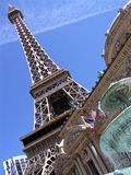 Las Vegas Eiffel Tower Dutch Angle. Image of Eiffel Tower replica in Las Vegas, Nevada Royalty Free Stock Photography