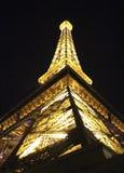 Las Vegas Eiffel Tower at Night Royalty Free Stock Photography