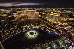 Las Vegas em uma noite de verão morna imagens de stock royalty free