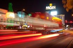 Las Vegas en el movimiento Fotos de archivo libres de regalías