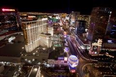 Las Vegas en la noche Foto de archivo libre de regalías