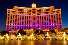 Las Vegas en la noche Fotografía de archivo libre de regalías