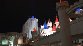 Las Vegas en la noche almacen de metraje de vídeo