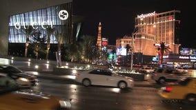 Las Vegas en la noche almacen de video