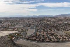 Las Vegas ensamma Mountain View Arkivbilder