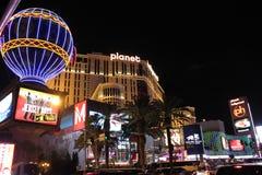 Las Vegas entro la notte Immagini Stock