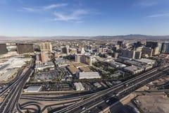 Las Vegas et antenne 15 d'un état à un autre Photographie stock