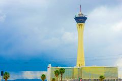 Las Vegas, Etats-Unis d'Amérique - 7 mai 2016 : Hôtel et casino de stratosphère sur la bande de Las Vegas, Image stock
