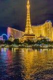 Las Vegas, Etats-Unis - juillet 2016 vue de bande de Las Vegas la nuit au Nevada Etats-Unis Photographie stock libre de droits