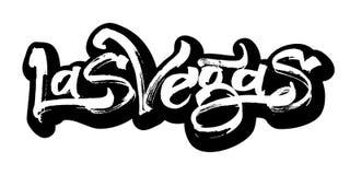 Las Vegas etikett Modern kalligrafihandbokstäver för serigrafitryck Royaltyfri Fotografi