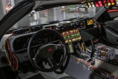 Las Vegas, EUA, em setembro de 2016 DMC DeLorean de volta ao carro futuro do filme no auto exebition Fotografia de Stock