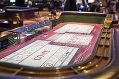 Las Vegas EUA, julho, 4,2014: Tabelas de jogo da estratosfera em Las Foto de Stock Royalty Free