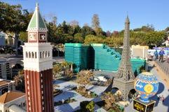 Las Vegas fêz de blocos de Lego Imagem de Stock