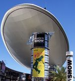 Las Vegas Fashion Show Mall. Image of the Sierra Nevada Mountains from the Vegas Strip in Las Vegas, Nevada Royalty Free Stock Photos