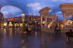 Caesars Palace mall in Las Vegas, NV on February 22, 2013. LAS VEGAS - FEBRUARY 22, 2013 - A view of trevvi fountain at the forum shops in Las Vegas on February Royalty Free Stock Photo