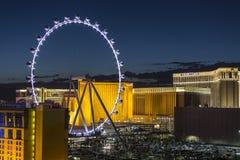 Las Vegas Ferris Wheel Night Stock Photography