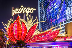 Las Vegas, flaming Fotografia Stock