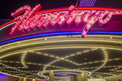 Las Vegas , Flamingo. LAS VEGAS - OCT 23 : The Flamingo hotel and casino on October 23 , 2015 in Las Vegas. The hotel opened by Bugsy Segal on 1946 and it's the stock photo