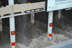 Las Vegas Flash Flood. A flash flood in Las Vegas after the largest rainfall in 10 years stock photos