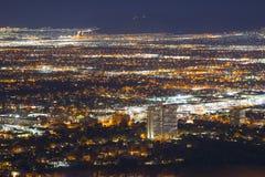 Las Vegas flyg- sikt på natten, NV, USA Royaltyfria Foton