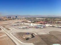 Las Vegas flygplatssikt från luften Arkivbilder