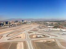Las Vegas flygplatssikt från luften Arkivfoto