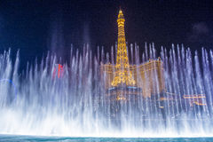 Las Vegas, fontane Immagini Stock Libere da Diritti