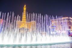 Las Vegas, fontanny Zdjęcia Royalty Free