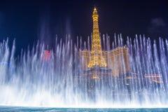 Las Vegas, fontanny Obrazy Royalty Free
