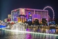 Las Vegas, fontanny Zdjęcie Royalty Free