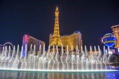 Las Vegas, fontanny Zdjęcia Stock