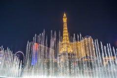 Las Vegas, fontanny Fotografia Royalty Free
