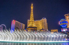 Las Vegas, fontanny Zdjęcie Stock