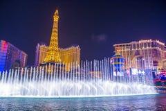 Las Vegas, fonteinen Stock Fotografie