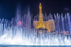 Las Vegas, fonteinen Royalty-vrije Stock Fotografie
