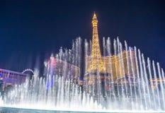 Las Vegas, fonteinen Royalty-vrije Stock Afbeeldingen