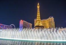 Las Vegas, fonteinen Stock Foto
