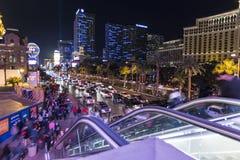 Las Vegas fot- trafik Arkivfoto