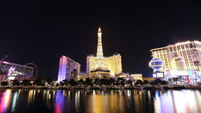 Las Vegas Fountains Time Lapse Stock Photography