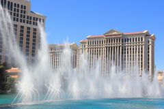Las Vegas fountains Stock Images