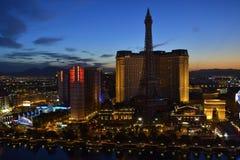 Las Vegas från punkten av sikten av Bellagio. Royaltyfria Foton
