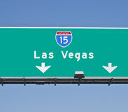 Las Vegas Freeway Sign. Las Vegas I-15 Freeway sign in bright daylight Royalty Free Stock Images