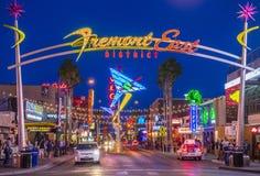 Las Vegas Fremont gataerfarenhet Arkivfoton