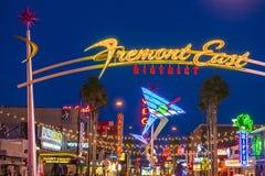 Las Vegas Fremont gataerfarenhet Fotografering för Bildbyråer