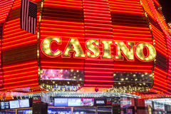 Las Vegas Fremont gataerfarenhet Arkivbild